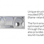 Comfort CT150 - Unique structure with moulded EPS